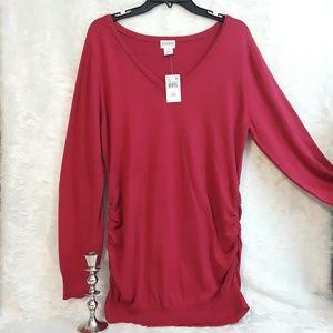 MOTHERHOOD MATERNITY pink sweater